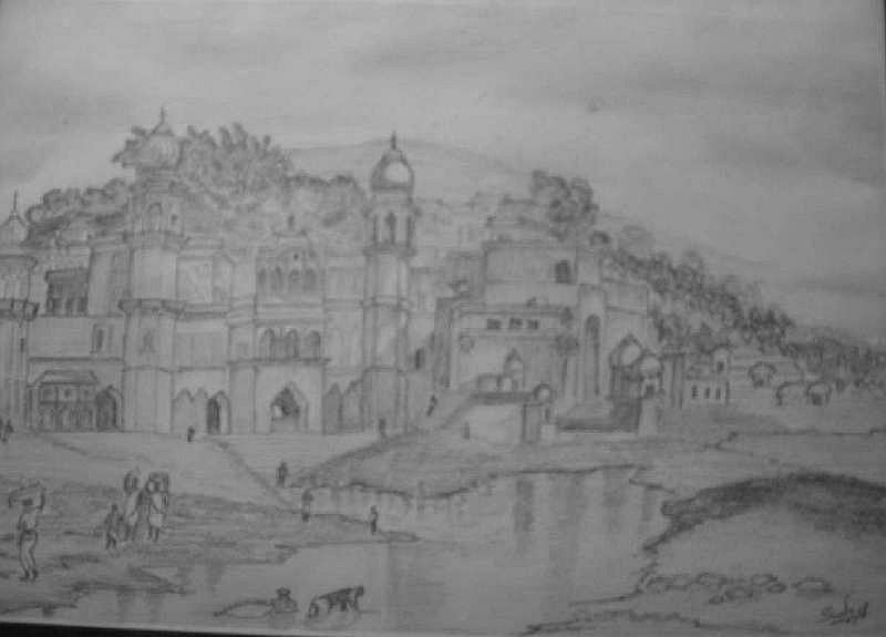 A landscape in Pencil Skech