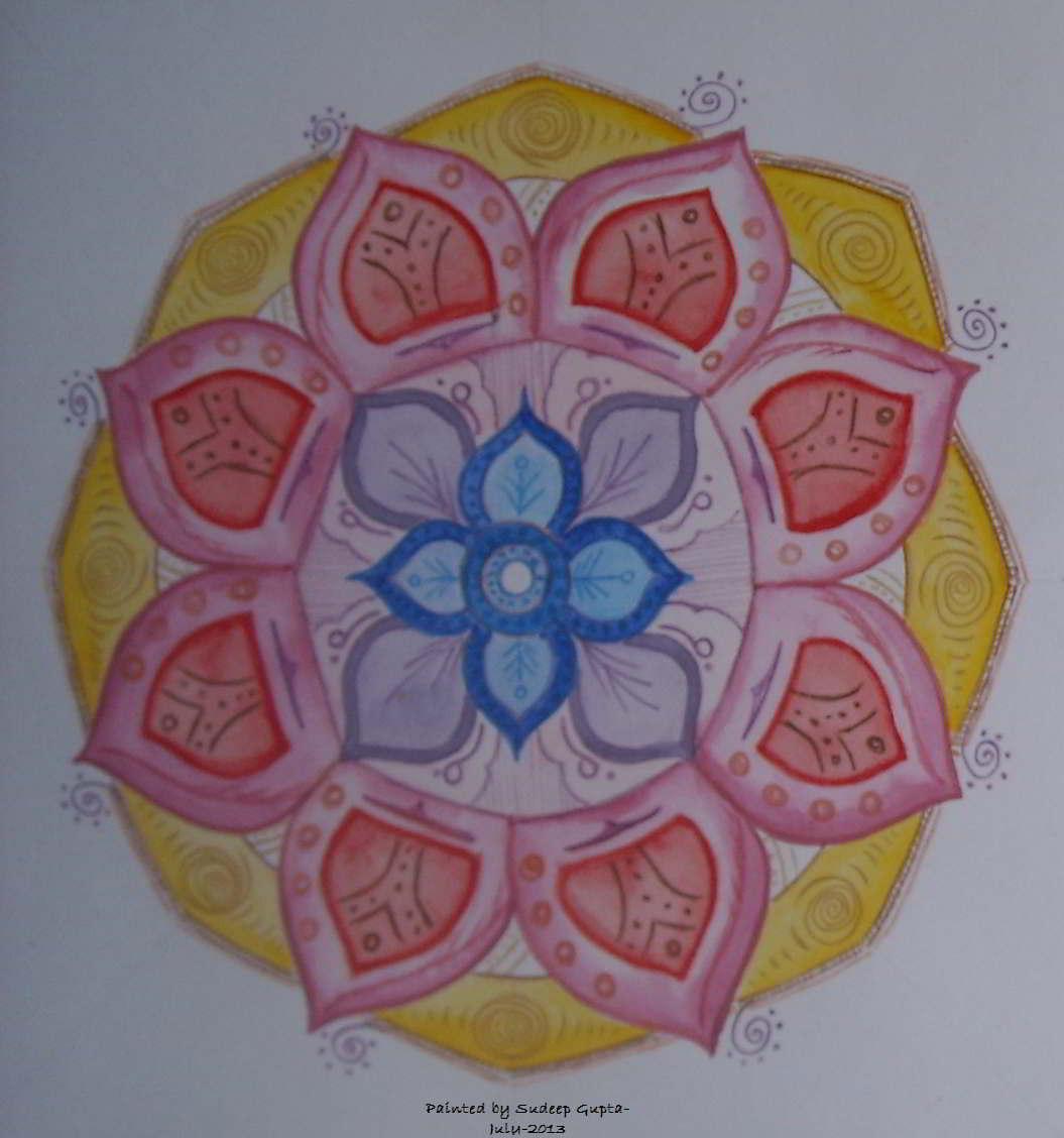 A Mandala Painting