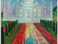 Tajmahal in Evening time-A watercolor Landscape