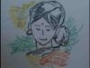 Crayon Art of Smiling Lady