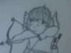 Pencil Sketch of Cupid standing