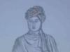 Pencil sketch of Vivekanand