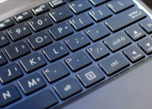 A widely spaced Keys to help typing on the go