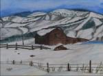 A snow Landscape in watercolor