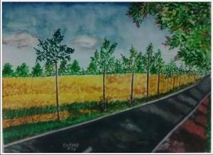 Mustard Field Landscape