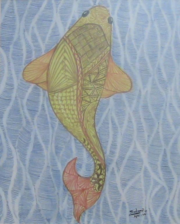 Painting Golden Fish
