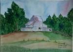 A cottage landscape in watercolor